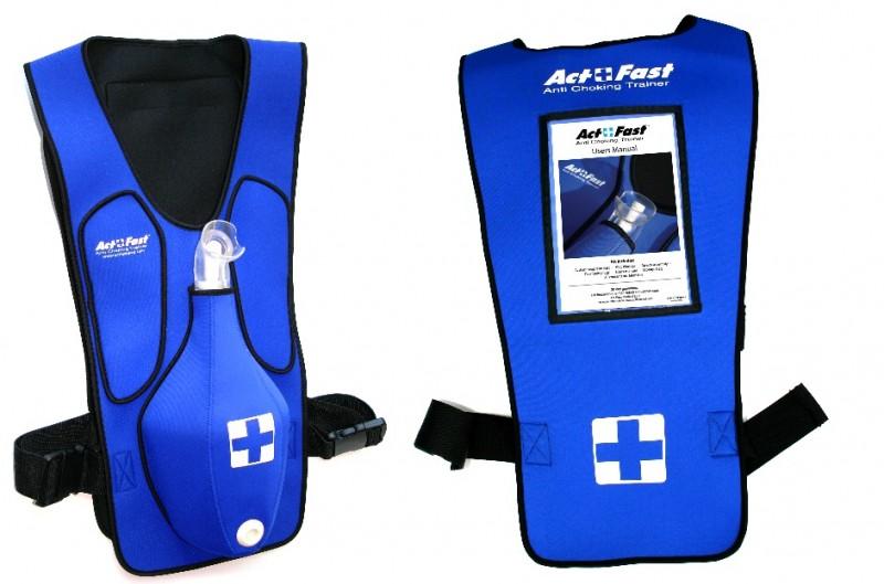 (有庫存來信洽詢)異物哽塞模擬器(哈姆立克背心)Act Fast Rescue Choking Vest (Blue )